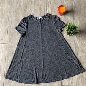 Dark heather gray tshirt dress